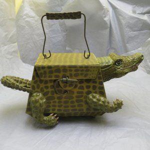 Alligator Paper Mache Purse